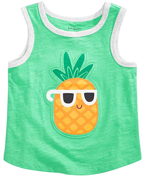 First Impressions Toddler Boys Pineapple-Print Cotton Tank Top, Created for Macy's