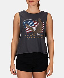 Juniors' Eagle Rider Cotton Cropped Tank Top