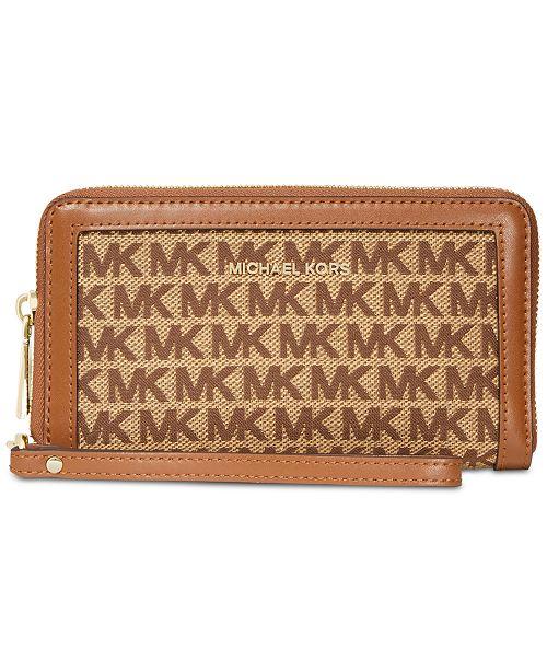 a7595368d105 Michael Kors Signature Double-Zip Wristlet & Reviews - Handbags ...
