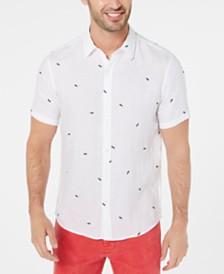 Michael Kors Men's Slim-Fit Sunglasses Embroidered Linen Shirt