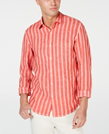 Michael Kors Men's Slim-Fit Stripe Linen Shirt