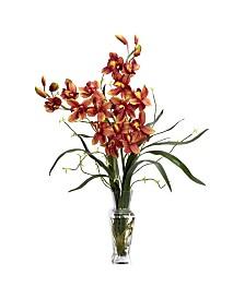 Nearly Natural Cymbidium Silk Flower Arrangement