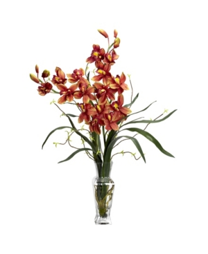 Nearly Natural Cymbidium Silk Flower Arrangement
