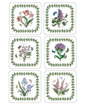 Coasters, Set of 6 Botanic Garden