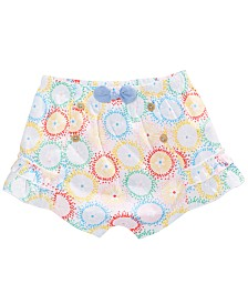 First Impressions Baby Girls Cotton Printed Shorts, Created for Macy's