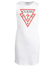 GUESS Big Girls Double Logo Graphic Cotton T-Shirt Dress