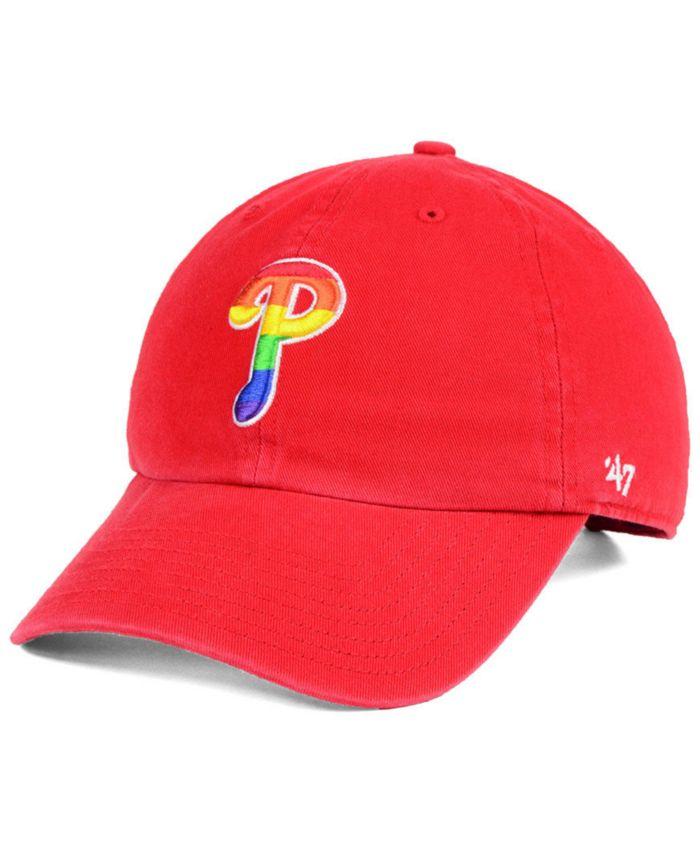 '47 Brand Philadelphia Phillies Pride CLEAN UP Strapback Cap & Reviews - Sports Fan Shop By Lids - Men - Macy's