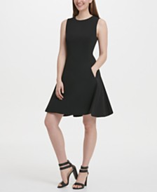 DKNY Fit & Flare Dress