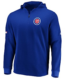 Majestic Men's Chicago Cubs Authentic Batting Practice Waffle Hoodie
