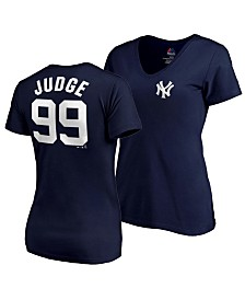 60082faf9 Majestic Women s Aaron Judge New York Yankees Player T-Shirt