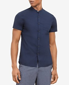 Kenneth Cole New York Men's Band-Collar Shirt