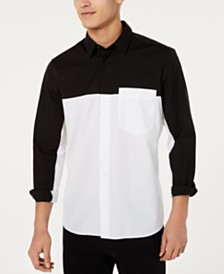 HUGO Hugo Boss Men's Colorblocked Pocket Shirt