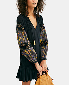 Free People Mix It Up Beaded Embroidered High-Low Peasant Tunic