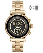 8d3812b7fb77 Michael Kors Access Women s Sofie Heart Rate Gold-Tone Stainless Steel  Bracelet Touchscreen Smart Watch