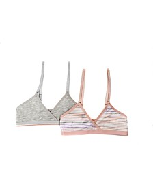 Tahari Girl 2-Pack Striped Hipster bra
