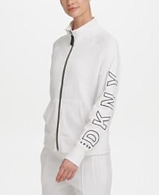 DKNY Sport Outline-Logo Track Jacket