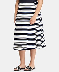 Lauren Ralph Lauren Plus Size Striped Skirt