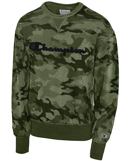 de8f511a7049f Champion Men's Camo-Print Sweatshirt & Reviews - Hoodies ...