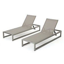 California Outdoor Chaise (Set of 2), Quick Ship
