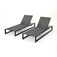 Modesta Outdoor Chaise Lounge, Set of 2