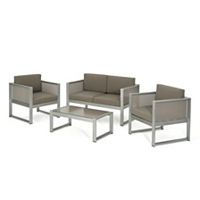 Fisher Island Outdoor 4pc Seating Set, Quick Ship