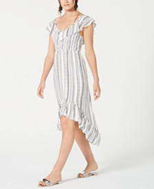 Almost Famous Juniors' Ruffled High-Low Dress