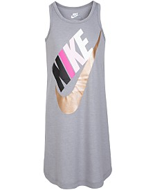 Nike Little Girls Metallic Futura Logo Dress