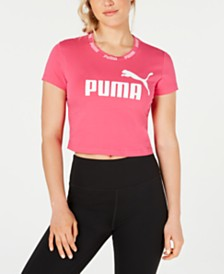 Puma Amplified Logo Cropped T-Shirt