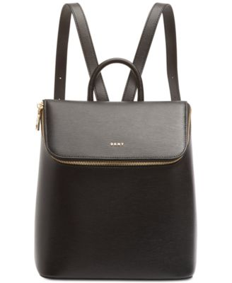 Bryant Leather Top Zip Backpack
