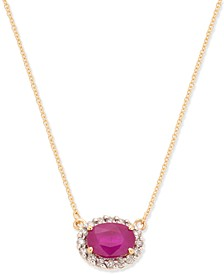 "Ruby (1-1/2 ct. t.w.) & Diamond Accent 18"" Pendant Necklace in 14k Gold"