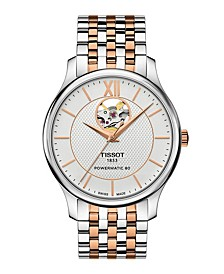 Men's Tradition Powermatic Stainless Steel And Rose Gold Two Tone Bracelet Watch 40mm