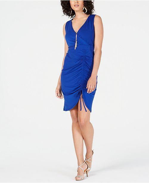 Thalia Sodi Sleeveless Sheath Necklace Dress, Created for Macy's