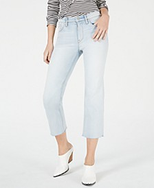 Wake Up Straight-Leg Cropped Jeans