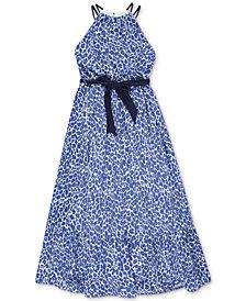 Speechless Big Girls Plus Leopard-Print Maxi Dress
