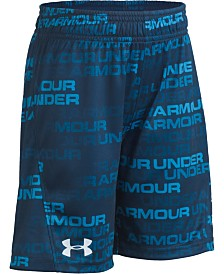 Under Armour Toddler Boys UA Wordmark Fade Boost Loose-Fit Moisture-Wicking Logo-Print Shorts