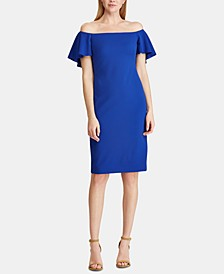 Crepe Off-The-Shoulder Dress