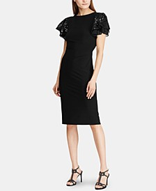 Flutter-Sleeve Cocktail Dress