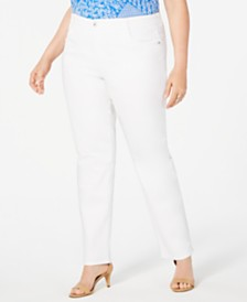 Style & Co Plus Size High-Rise Slim-Leg Jeans, Created for Macy's