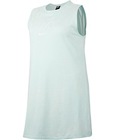 Plus Size Sportswear Cotton Logo Sleeveless Dress