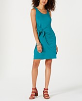 ae7dc412458c Style & Co Sleeveless Tie-Front Dress, Created for Macy's