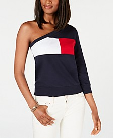 One-Shoulder Colorblocked Sweatshirt, Created for Macy's
