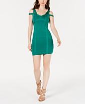 15dc7506421f GUESS Cold-Shoulder Bandage Dress