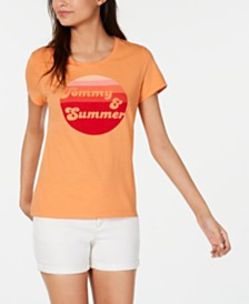 Tommy Hilfiger Cotton Summer-Graphic T-Shirt, Created for Macy's