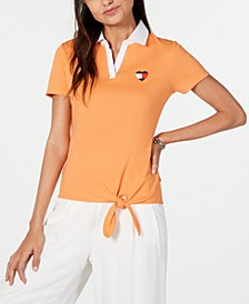 Cotton Cotton Tie-Hem Polo