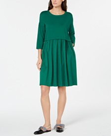 Weekend Max Mara Mincio Gathered-Waist Sweater Dress