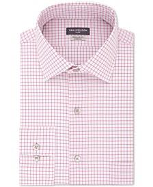 Men's Flex Classic/Regular-Fit Stretch Wrinkle-Free Check Dress Shirt