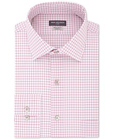 Van Heusen Men's Flex Classic/Regular-Fit Stretch Wrinkle-Free Check Dress Shirt