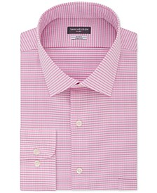 Men's Big & Tall Flex Classic/Regular-Fit Stretch Wrinkle-Free Check Dress Shirt