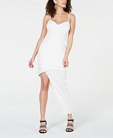 Juniors' Asymmetrical-Hem Bodycon Dress, Created for Macy's