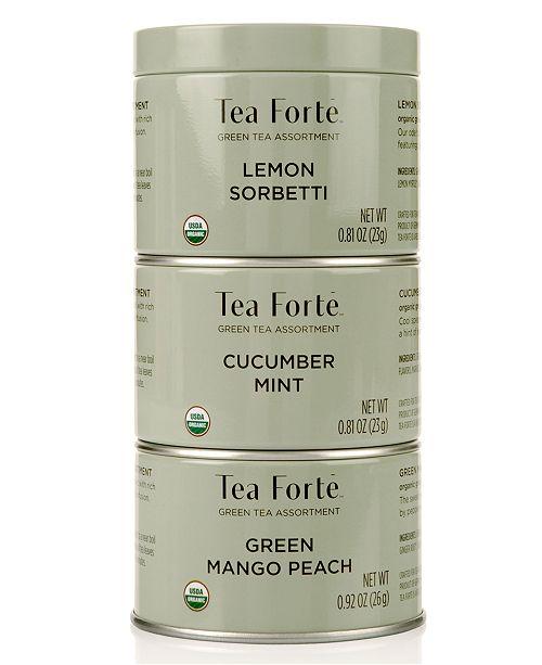 Tea Forte LTC Trio Green Tea Loose-Leaf Tea
